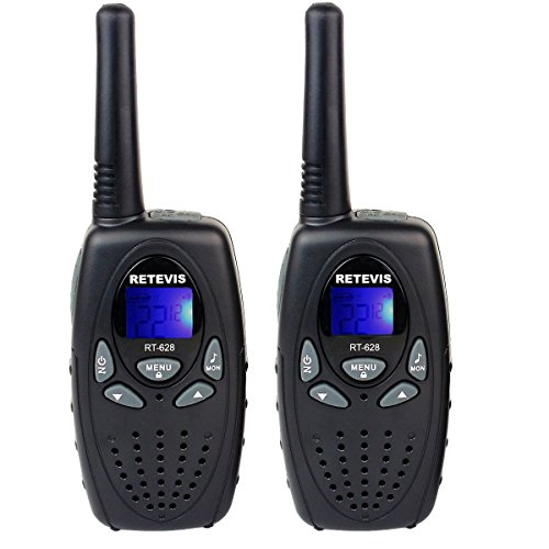 Retevis RT628 VOX UHF Portable 22 Channel FRS Kids Walkie Talkies (Black,1 Pair)