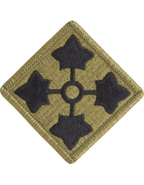 4th Id Patch (PMV-0004A, 4th Infantry Div MultiCam Patch with Fastener (A-1-79) PATCHES &)