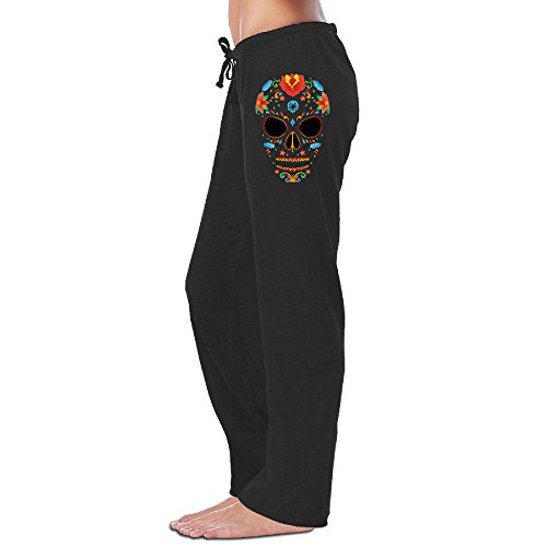 Gameser Sugar Skull Soft Leisure Sweatpants For Women Leisure Wear (Skull Sweatpants)