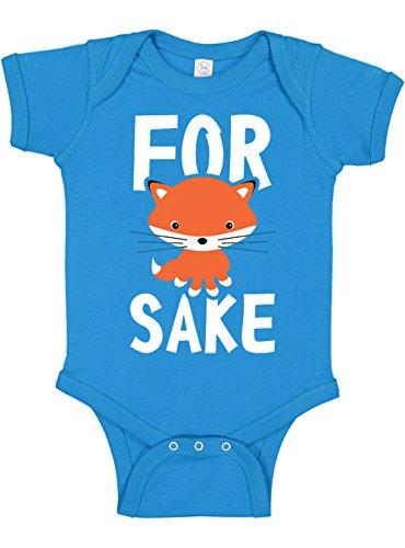 Panoware Funny Baby Bodysuit | for Fox Sake, Cobalt, 3-6 Months