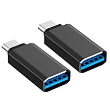 USB C Adapter, Rankie 2-Pack Hi-speed USB-C 3.1 to USB-A 3.0 Adapter for USB Type-C Devices Including MacBook, ChromeBook Pixel, Nexus 5X, Nexus 6P, Nokia N1 Tablet and More - R1209
