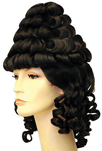 [UHC Women's Colonial Lady Tower Wig Synthetic Fiber Halloween Accessory] (Colonial Brown Wig)