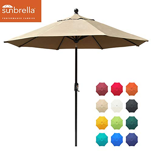 EliteShade Sunbrella 9Ft Market Umbrella Patio Outdoor Table Umbrella with