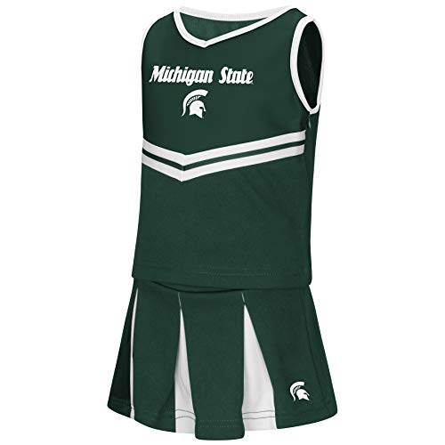 Colosseum NCAA Toddler-Girls Team Cheer Set-Michigan State -
