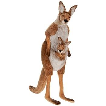 """Hansa Plush - 45"""" Life Size Mama and Joey Kangaroo"""