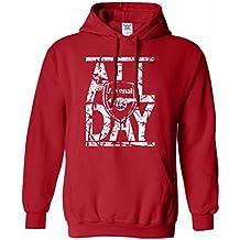 "Tcamp ""All Day"" Arsenal Soccer Fans Men's Hoodie Sweatshirt"