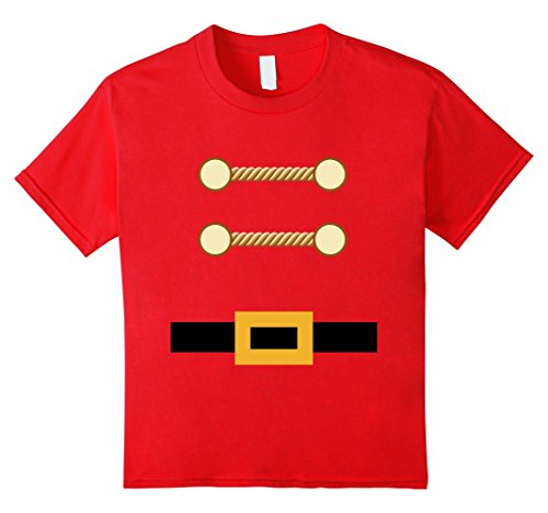 Kids Toy Soldier Christmas Costume Tee Nutcracker Uniform 12 Red