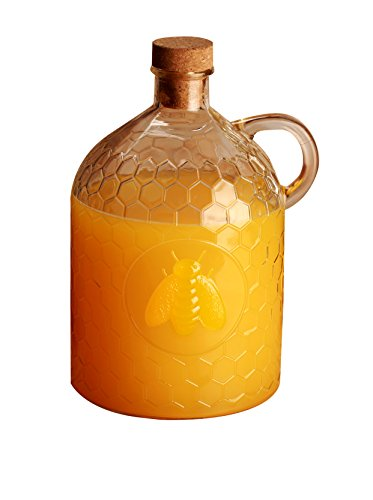 Circleware 06786 Honey Bee Glass Jug 2 liter Clear