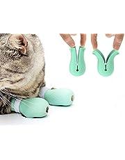 Yonfan - Juego de 4 protectores para patas de gato, antiarañazos, para baño, aseo y tratamiento