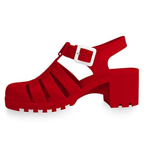 retro jelly heels - 8