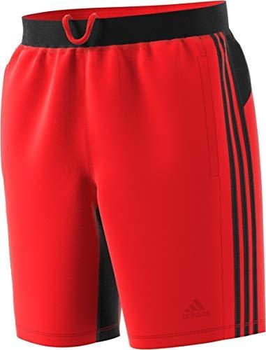 adidas Men's 4Krft 9'' Sport 3-Stripes Shorts, Active Red/Black, X-Small