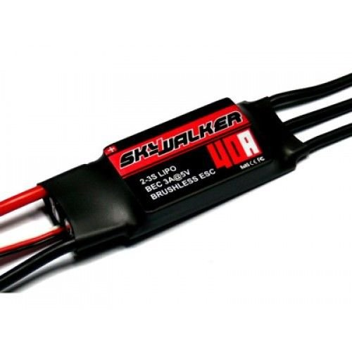 Xiangtat Hobbywing Skywalker 2-3s 40a ESC Brushless ESC Electric Speed Controller for Rc Airplane Quadcopter Hexrcopter Multirotor Vehicle Boat by Xiangtat