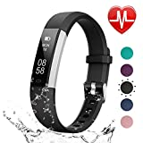 LETSCOM Fitness Tracker HR, Heart Rate Monitor Watch with Sleep Monitor Step Counter Pedometer, Waterproof Smart Watch, Activity Tracker for Kids Women and Men