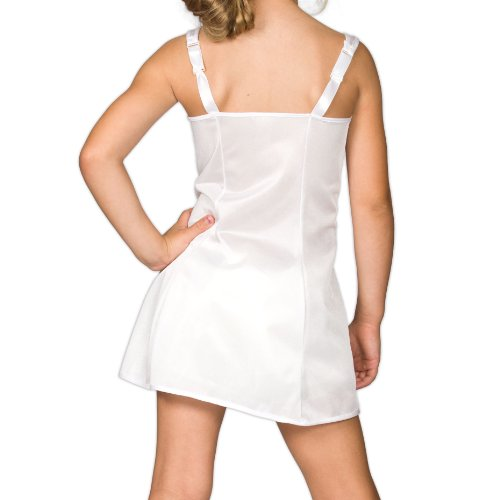 I.C. Collections Little Girls White Sleek Nylon Slip, 4 by IC Collections (Image #1)