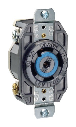 Leviton 2810 30 Amp, 120/208 Volt- 3PY, Flush Mounting for sale  Delivered anywhere in USA