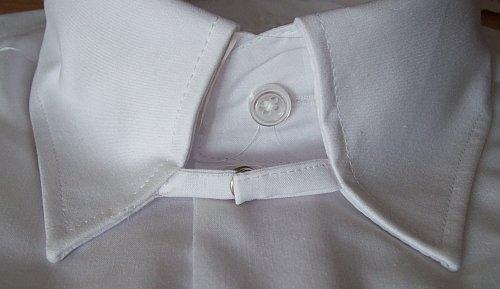 Hemd Langarm TAB-Kragen, Slim-Fit, Knopfmanschette, schwarz