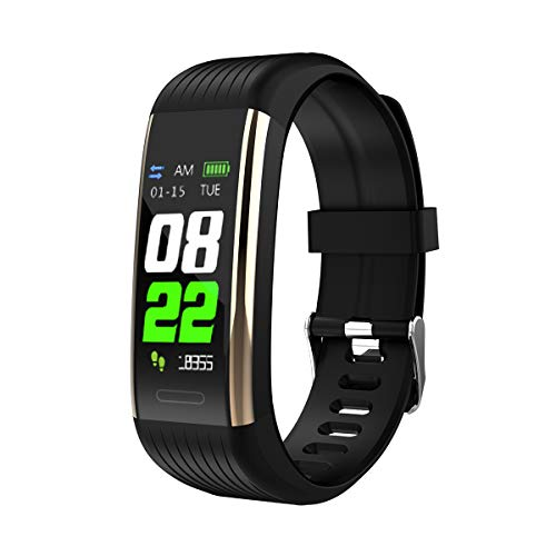 SiFREE Fitness Tracker Wristband Blood Pressure Heart Rate Monitor Pedometer Sport Band Smart Watch for Kids Women Men (Best Wrist Pedometer Uk)