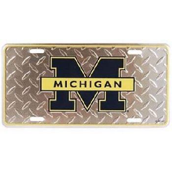 University Plate Christmas (NCAA Michigan Wolverines Diamond Plate Car Tag)