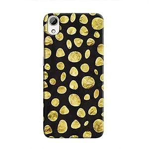 Cover It Up - Black Pale Gold Pebbles Desire 826 Hard case