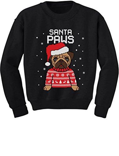 Santa Paws Pug Ugly Christmas Sweater Dog Toddler/Kids Sweatshirts 4T ()