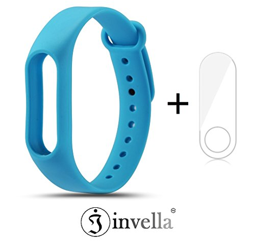 invella (TM) Mi Band 2 Replacement Belt/Strap (Blue) with Screen Guard