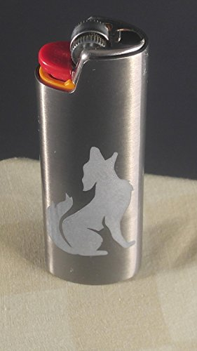 BIC Lighter Cover Metal Blank - Howling Wolf (MANY (Custom Bic Lighter)