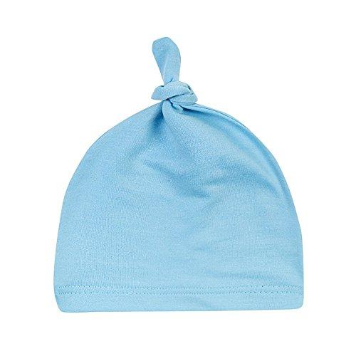 Menglihua Unisex Newborn Toddler Infant Cotton Soft Cute Lovely Adjustable Knot Hat Light Blue One Size Infant Newborn Skateboards