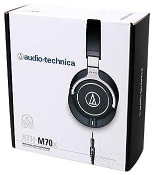 Audio Technica Ath-m70x Professional Studio Monitor Headphones Athm70x+shield 4