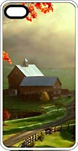 Country Barn & Fields White Plastic Case for Apple iPhone 4 or iPhone 4s