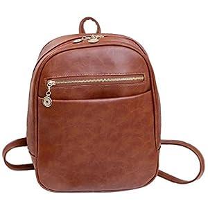 LUNIWEI Leather Backpacks Women Travel School Bag Mochila Feminina Bag