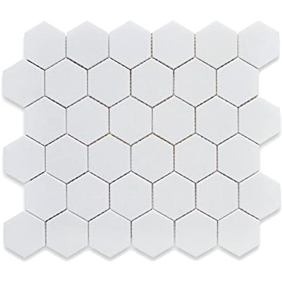 White 12X12 Hexagon Mosaic- 11pcs/carton (11 sq ft) from USCT