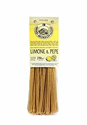 Antico Pastificio Morelli, Linguine Pasta With Lemon & Black Pepper, Wheat Germ, 8.8oz (Pack Of 4)