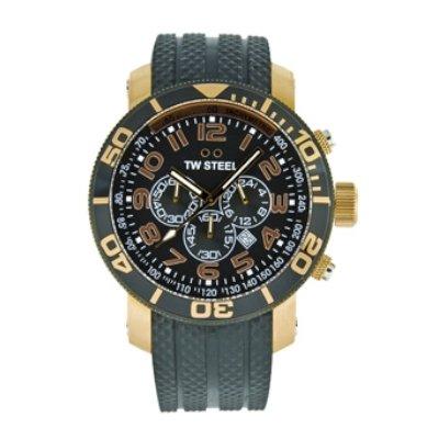- TW Steel Men's TW92 Grandeur Diver Black Rubber Chronograph Dial Watch