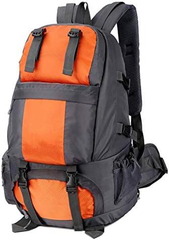 BAJIMI 靴キャビネット/オレンジとアウトドアハイキングキャンプ旅行50L屋外防水スポーツバッグのためのバックパック