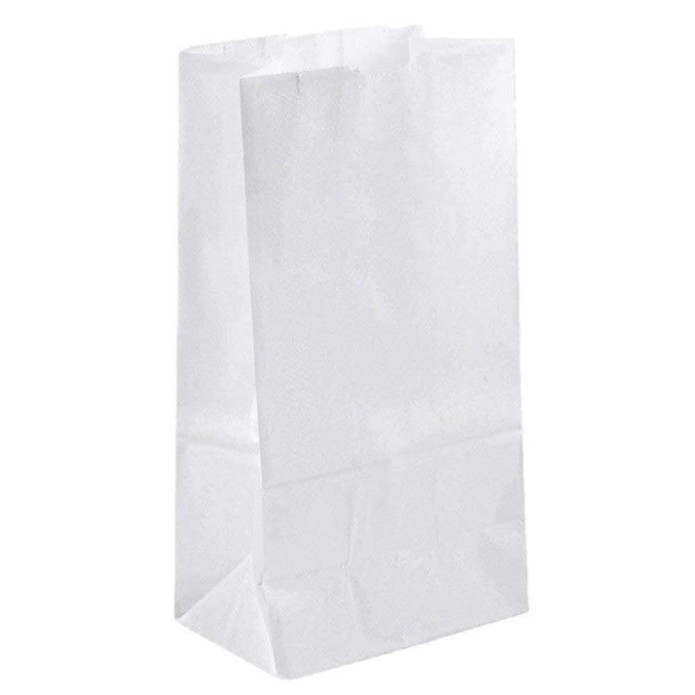 B&H. Mfg. White Paper Bag #10-500/Bundle