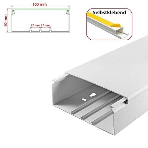 StilBest® 80m Kabelkanal [L x B x H 200x10,0x4,0 cm, PVC, Selbstklebend, weiß] Kabeldurchführungssystem   Kabelleiste   Kabelschlauch   Kabelrohr B07PRM2CR1   Einzigartig