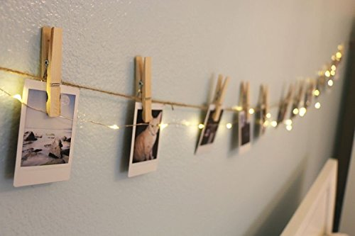 LED String Lights with Wooden Clips