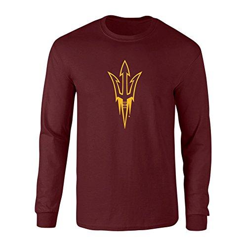 (Elite Fan Shop Arizona State Sun Devils Long Sleeve Tshirt Power Maroon - M)