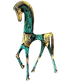 STATUE HORSE GEOMETRIC ERA GREECE ANCIENT BRONZE MUSEUM REPLICA 123