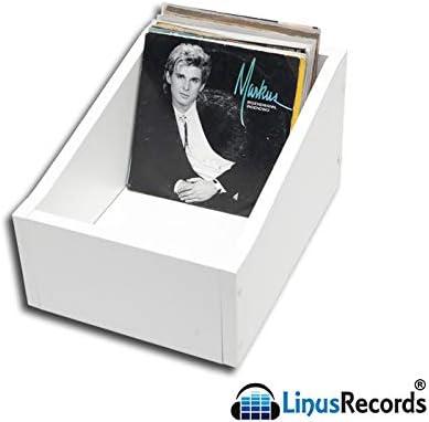 LinusRecords Single DJ - Caja de Mesa de Madera para Contener ...