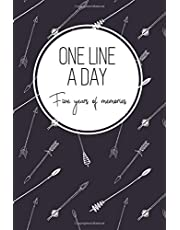 One Line a Day, Five Years of Memories: Boho Arrows, A Five Year Memoir, 6x9 Dated and Lined Diary