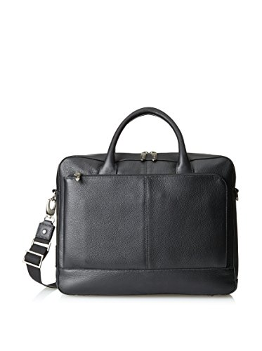 - Tribeca Slim Leather Laptop Briefcase