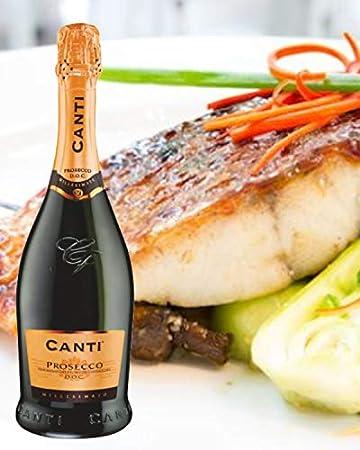 CANTI Prosecco D.O.C. Millesimato Vino Espumoso Italiano Extradry Seco - 1 Botella X 750ml