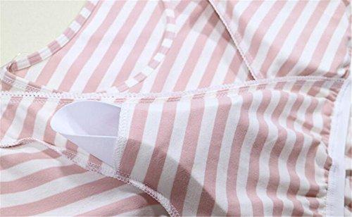 Maglietta Shirts Sottile Breastfeeding Righe Camicetta Gogofuture T Infermieristica Top Bluse A T Manica Corta L'Allattamento Allattamento Shirt Donna Gray Maternity Nursing vfcqX87q