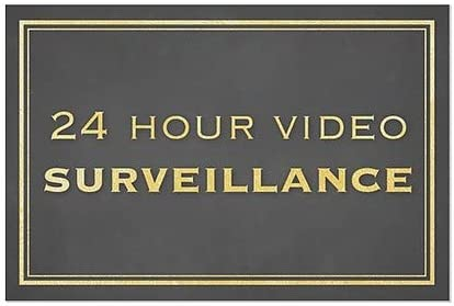 5-Pack CGSignLab 24 Hour Video Surveillance 18x12 Classic Gold Window Cling