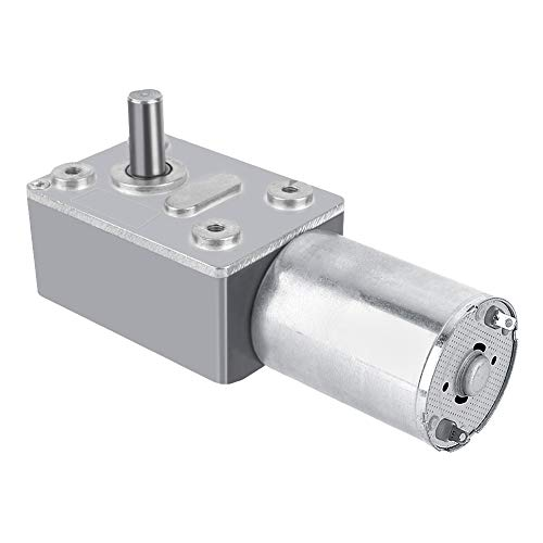 DC 12V Reversible High Torque Turbo Worm Gear Box Reduction Electric Motor  5/6/20/40/62RPM(5RPM)