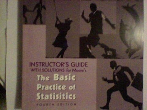 Instructor's Guide with Solutions for Moore's The Basic Practice of Statistics. 4th Edition.