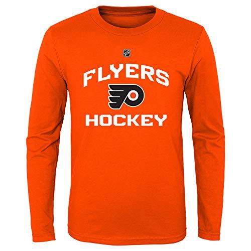 NHL by Outerstuff NHL Philadelphia Flyers Youth Boys Locker Standard Arch Long Sleeve Tee, Orange, Youth Medium(10-12)