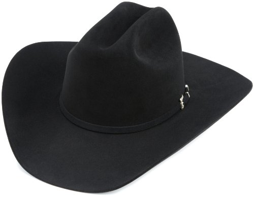 Resistol Western Hat (Resistol Men's Black Gold Hat, Black, 7 3/8)