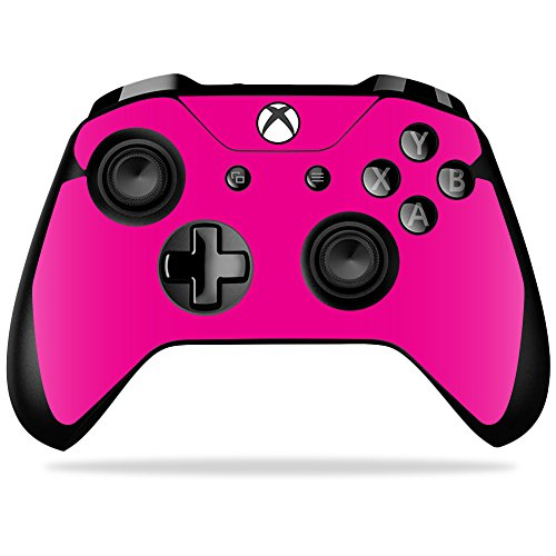 MightySkins Skin For Microsoft Xbox One X Controller - Solid Hot Pink   Protective, Durable, and Unique Vinyl Decal wrap cover   Easy To Apply, Remove, and Change Styles   Made in the USA